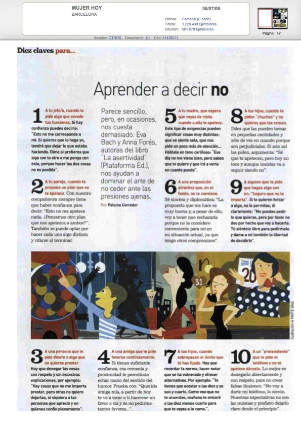 10 claves para aprender a decir NO - Mujer Hoy