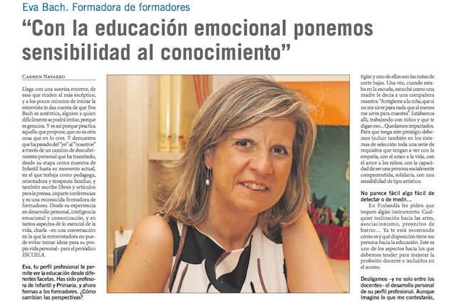 Eva Bach Escuela Entrevista