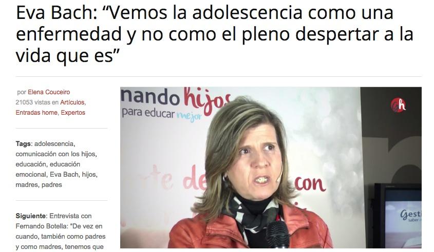 Eva Bach Gestionando Hijos entrevista