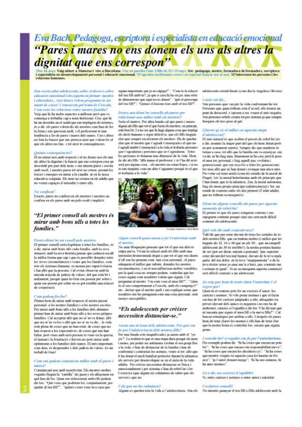 Va d'Educació (entrevista juny 2008) Eva Bach 1